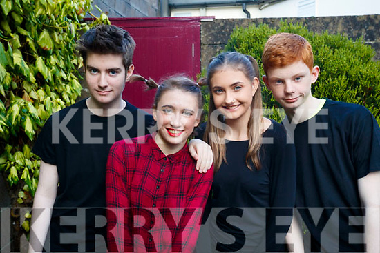 Niall Carr, Sophia Dowds, Kim O'Brien and Jay Tydings, pictured at Bryan Carr School of Performing Arts annual Christmas Show 'Kris Kringle Christmas', held at Siamsa Tire, Tralee on Sunday afternoon last.