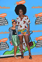 Bozoma Saint John &amp; Lael Saint John at Nickelodeon's 2018 Kids' Choice Awards at The Forum, Los Angeles, USA 24 March 2018<br /> Picture: Paul Smith/Featureflash/SilverHub 0208 004 5359 sales@silverhubmedia.com