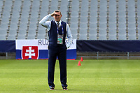 England Under21 manager Aidy Boothroyd inspect the pitch before Slovakia Under-21 vs England Under-21, UEFA European Under-21 Championship Football at The Kolporter Arena on 19th June 2017
