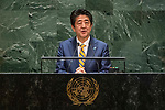 General Assembly Seventy-fourth session: Opening of the general debate<br /> PM<br /> 4th Plenary Meeting <br /> JAPAN