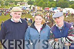 Michael Collins, Rebecca Bennett and Ronnie Wharton Tralee looking at the horses on sale at Puck Fair on Monday
