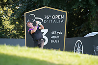 Rory Sabatini (SVK) in action on the 3rd hole during the first round of the 76 Open D'Italia, Olgiata Golf Club, Rome, Rome, Italy. 10/10/19.<br /> Picture Stefano Di Maria / Golffile.ie<br /> <br /> All photo usage must carry mandatory copyright credit (© Golffile | Stefano Di Maria)