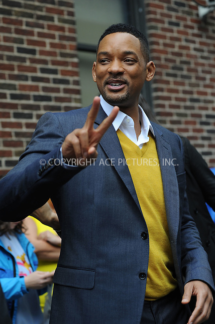 WWW.ACEPIXS.COM . . . . . .May 22, 2012...New York City.... Will Smith tapes  an appearance on the Late Show with David Letterman on May 22, 2012  in New York City....Please byline: KRISTIN CALLAHAN - ACEPIXS.COM.. . . . . . ..Ace Pictures, Inc: ..tel: (212) 243 8787 or (646) 769 0430..e-mail: info@acepixs.com..web: http://www.acepixs.com .