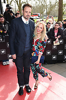 Jamie Theakston and Emma Bunton<br /> arrives for the T.R.I.C. Awards 2017 at the Grosvenor House Hotel, Mayfair, London.<br /> <br /> <br /> &copy;Ash Knotek  D3240  14/03/2017