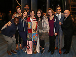 Jess Leprotto with Joshua Henry, Margaret Colin, Jessie Mueller, Amar Ramasar, Lindsay Mendez, Renee Fleming, Justin Peck and Jack O'Brien during the Actors' Equity Broadway Opening Night Gypsy Robe Ceremony honoring Jess LeProtto for 'Carousel' at the Imperial Theatre on April 12, 2018 in New York City.
