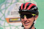 Dan Martin (IRL) UAE Team Emirates at sign on before the start of the 112th edition of Il Lombardia 2018, the final monument of the season running 241km from Bergamo to Como, Lombardy, Italy. 13th October 2018.<br /> Picture: Eoin Clarke | Cyclefile<br /> <br /> <br /> All photos usage must carry mandatory copyright credit (© Cyclefile | Eoin Clarke)