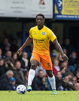 Anthony Stewart of Wycombe Wanderers on the ball during the Sky Bet League 2 match between Portsmouth and Wycombe Wanderers at Fratton Park, Portsmouth, England on 23 April 2016. Photo by Andy Rowland.