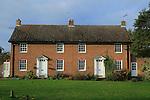 Semi detached housing, two neighbouring village homes, Shottisham, Suffolk, England, UK