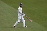 Alastair Cook of Essex leaves the field having been dismissed for 11 during Surrey CCC vs Essex CCC, Specsavers County Championship Division 1 Cricket at the Kia Oval on 12th April 2019