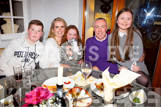 The O'Carroll Family from Tralee enjoying the night out in Bella Bia on Friday night last, l-r, Karen, Morris, Tiernan, Naoise and Caoileann O'Carroll.