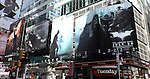 Full City Block Billboard for 'The Dark Knight Rises' in Times Square, New York City on 6/29/12..The Film Directed by Christopher Nolan stars Christian Bale, Michael Caine and Gary Oldman