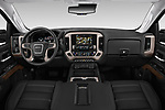 Stock photo of straight dashboard view of a 2019 GMC Sierra 2500 Denali 4 Door Pick Up
