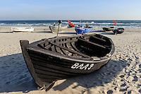 Strand von Ostseebad Baabe auf Rügen, Mecklenburg-Vorpommern, Deutschland