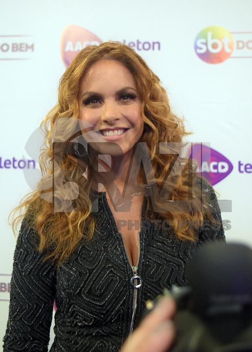 OSASCO,SP 24.10.2015 - TELETON-SP - A atriz mexicana Luccero, durante o Teleton 2015 realizado no Estudio 2 do SBT, na noite desse sábado,24.  (Foto: Eduardo Carmim / Brazil Photo Press)