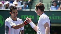 ANDY MURRAY (UK), SANTIAGO GIRALDO (COL)<br /> <br /> Tennis - MIAMI OPEN 2015 - ATP 1000 - WTA Premier -  Crandon park Tennis Centre  - Miami - United States of America - 2015<br /> &copy; AMN IMAGES