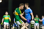 Donnchadh Walsh Kerry in action against John Small Dublin in the National League in Austin Stack park on Saturday night.
