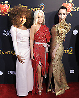 www.acepixs.com<br /> <br /> July 11 2017, LA<br /> <br /> (L-R) China Anne McClain, Dove Cameron and Sofia Carson arriving at the premiere of Disney Channel's 'Descendants 2' on July 11, 2017 in Los Angeles, California. <br /> <br /> By Line: Peter West/ACE Pictures<br /> <br /> <br /> ACE Pictures Inc<br /> Tel: 6467670430<br /> Email: info@acepixs.com<br /> www.acepixs.com