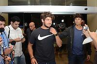 RIO DE JANEIRO-09/07/2012-Jogador Alexandre Pato se apresenta a Selecao Brasileira de Futebol no Hotel Sheraton, Lelblon, na zona sul do Rio.Foto:Marcelo Fonseca-Brazil Photo Press