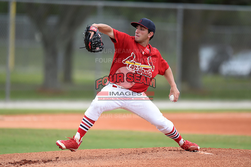 St. Louis Cardinals pitcher Rob Kaminsky (32) during a minor league spring training intrasquad game on March 28, 2014 at the Roger Dean Stadium Complex in Jupiter, Florida.  (Mike Janes/Four Seam Images)