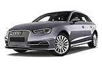Stock pictures of low aggressive front three quarter view of a 2015 Audi A3 Ambiente 5 Door Hatchback 2WD Low Aggressive