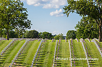 65095-02801 Gravestones at Jefferson Barracks National Cemetery St. Louis, MO