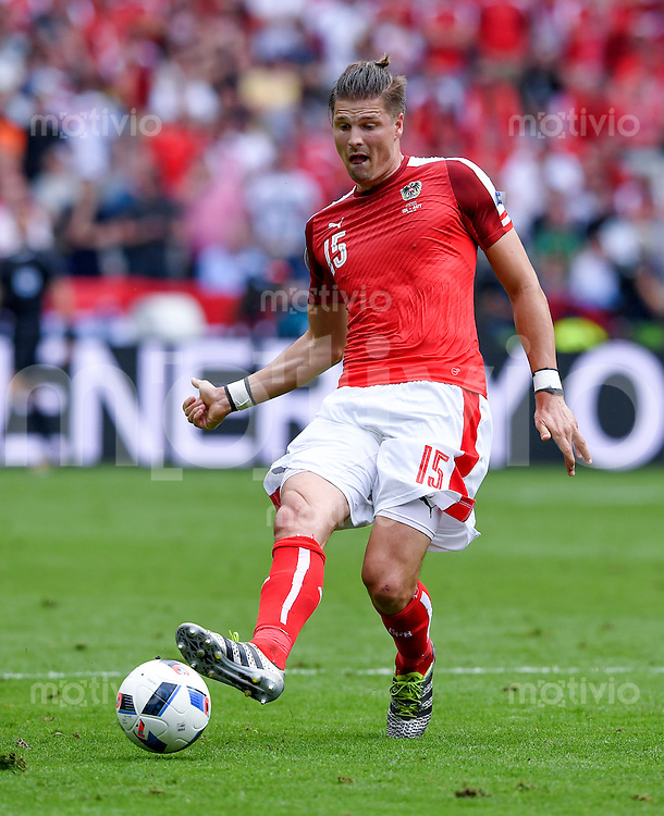FUSSBALL EURO 2016 GRUPPE C IN PARIS Island - Oesterreich             22.06.2016 Sebastian Proedl  (Oesterreich)