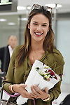 Brazilian top model Alessandra Ambrosio arrives at Narita International Airport in Chiba, Japan on September 8, 2015. (Photo by Yohei Osada/AFLO)