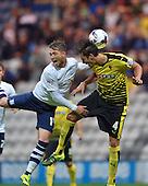 25/08/2015 Capital One Cup, Second Round Preston North End v Watford<br /> Joe Garner challenges with Gabrielle Angella