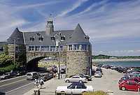 Narraganset Beach, R.I..A distinctive landmark in Narraganset Beach is the castle-like arch over Ocean Road