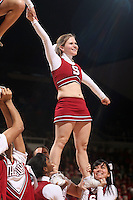 STANFORD, CA - JANUARY 30:  Cheerleaders of the Stanford Cardinal during Stanford's 83-62 win over Arizona on January 30, 2010 at Maples Pavilion in Stanford, California.
