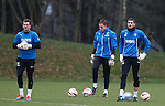 Craig Gordon training with Cammy Bell and Scott Gallagher