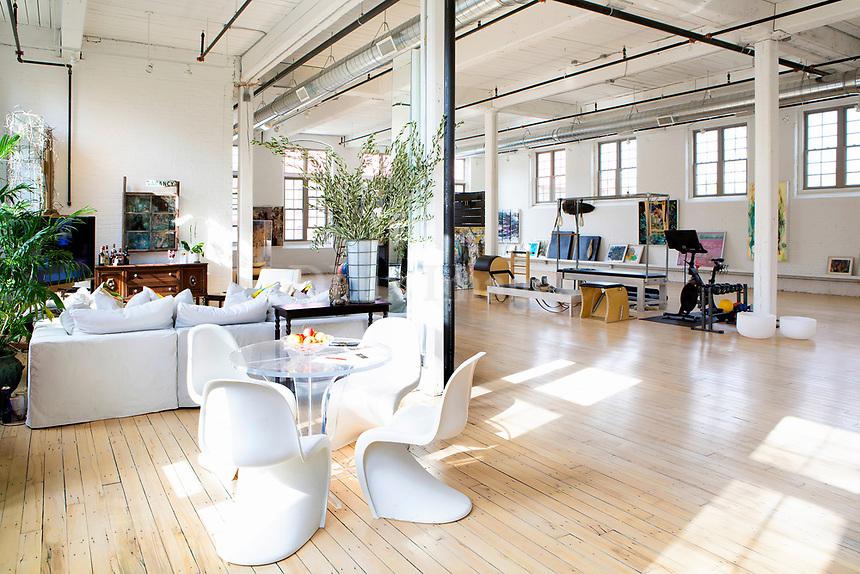 White panton chairs