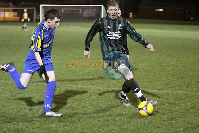 Albion Rovers a V Albion ROvers B match in Albion rovers..Team A Green Black, Albion B Blue Yellow..Photo: Fran Caffrey/www.newsfile.ie...