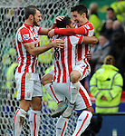 Bojan Krkic of Stoke City celebrates scoring the opening goal<br /> - Barclays Premier League - Stoke City vs Manchester United - Britannia Stadium - Stoke on Trent - England - 26th December 2015 - Pic Robin Parker/Sportimage
