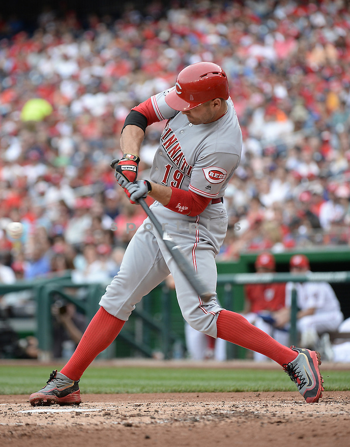 Cincinnati Reds Joey Votto (19) during a game against the Washington Nationals on July 3, 2016 at Nationals Park in Washington DC. The Nationals beat the Reds 12-1.