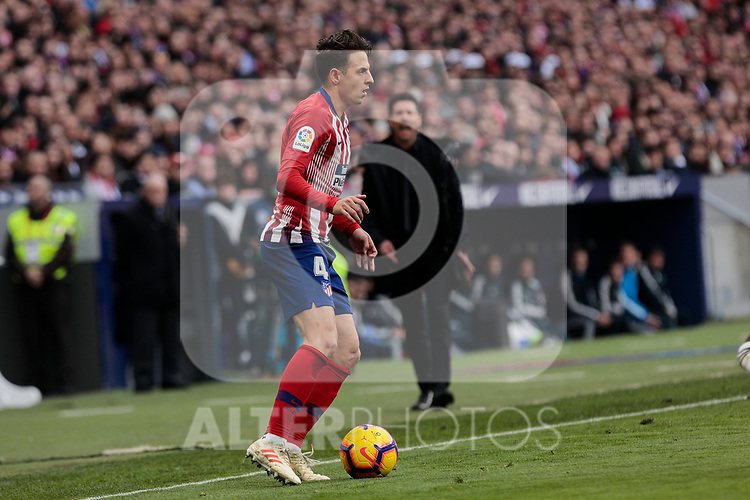 Atletico de Madrid's Santiago Arias during La Liga match between Atletico de Madrid and Real Madrid at Wanda Metropolitano Stadium in Madrid, Spain. February 09, 2019. (ALTERPHOTOS/A. Perez Meca)