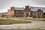 IOOF Hall, Miners' Union Hall, Morgue, The ghost town of Bodie, California, State Historic Park.