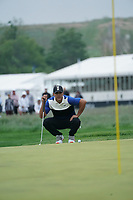 Brooks Koepka (USA) on the 16th green during the final round at the PGA Championship 2019, Beth Page Black, New York, USA. 20/05/2019.<br /> Picture Fran Caffrey / Golffile.ie<br /> <br /> All photo usage must carry mandatory copyright credit (© Golffile | Fran Caffrey)