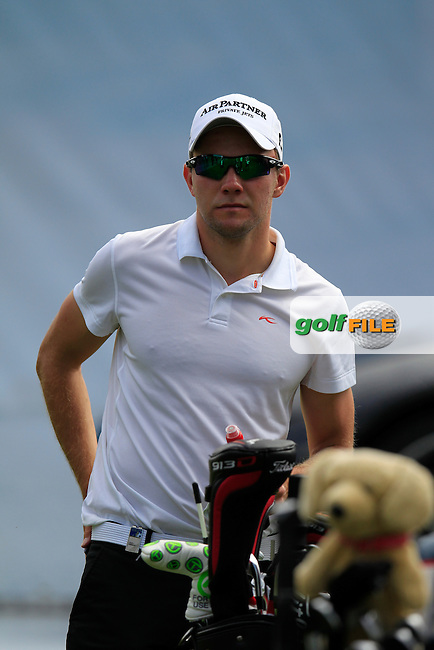 Maximilian KIEFFER (GER) waits to tee off the 11th tee during Thursday's Round 1 of the 2014 Omega European Masters held at the Crans Montana Golf Club, Crans-sur-Sierre, Switzerland.: Picture Eoin Clarke, www.golffile.ie: 4th September 2014