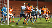 Blackpool's Donervon Daniels <br /> <br /> Photographer Rachel Holborn/CameraSport<br /> <br /> The EFL Checkatrade Trophy Group C - Blackpool v Accrington Stanley - Tuesday 13th November 2018 - Bloomfield Road - Blackpool<br />  <br /> World Copyright © 2018 CameraSport. All rights reserved. 43 Linden Ave. Countesthorpe. Leicester. England. LE8 5PG - Tel: +44 (0) 116 277 4147 - admin@camerasport.com - www.camerasport.com