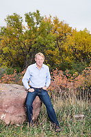 Co-Founder of Celestial Seasonings Mo Siegel (cq) near his home in Boulder, Colorado, Tuesday, October 15, 2013. Born in Palmer Lake, Colorado, Siegel moved to Boulder in 1970 where he became a leader in the tea and health food industry.<br /> <br /> Photo by Matt Nager
