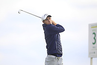 Tim Widing of Team Sweden on the 3rd tee during Round 3 of the WATC 2018 - Eisenhower Trophy at Carton House, Maynooth, Co. Kildare on Friday 7th September 2018.<br /> Picture:  Thos Caffrey / www.golffile.ie<br /> <br /> All photo usage must carry mandatory copyright credit (&copy; Golffile | Thos Caffrey)
