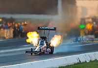 Jun 9, 2017; Englishtown , NJ, USA; NHRA top fuel driver Leah Pritchett during qualifying for the Summernationals at Old Bridge Township Raceway Park. Mandatory Credit: Mark J. Rebilas-USA TODAY Sports