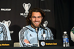 05 December 2013: Graham Zusi. Sporting Kansas City held a press conference at the Three Points Club in Kansas City, Missouri two days before playing Real Salt Lake in MLS Cup 2013.