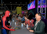SAN DIEGO COMIC-CON© 2019:  L-R: 20th Century Fox Television's AMERICAN DAD Cast Members Scott Grimes, Kevin Michael Richardson, Rachael MacFarlane and Dee Bradley Baker during the AMERICAN DAD booth signing on Saturday, July 20 at the SAN DIEGO COMIC-CON© 2019. CR: Alan Hess/20th Century Fox Television