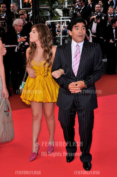 "Diego Maradona & daughter at the premiere of ""Che"" at the 61st Annual International Film Festival de Cannes. .May 21, 2008  Cannes, France..Picture: Paul Smith / Featureflash"