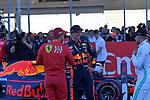 02.11.2019, Circuit of The Americas, Austin, FORMULA 1 EMIRATES UNITED STATES GRAND PRIX 2019<br /> ,im Bild<br />Poleposition für Valtteri Bottas (FIN#77), Mercedes-AMG Petronas Motorsport,<br />2.Startplatz für Sebastian Vettel (GER#5), Scuderia Ferrari Mission Winnow,<br />3.Startplatz für Max Verstappen (NEL#33), Aston Martin Red Bull Racing<br /> <br /> Foto © nordphoto / Bratic