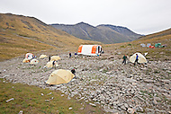 Pika Camp, an alpine research field camp in the Ruby Range near Kluane Lake Research Station, Yukon