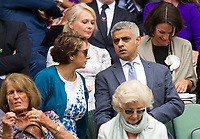 The Mayor of London - Sadiq Khan -  at Centre Court for the Gentlemen's Singles Final<br /> <br /> Photographer Ashley Western/CameraSport<br /> <br /> Wimbledon Lawn Tennis Championships - Day 13 - Sunday 16th July 2017 -  All England Lawn Tennis and Croquet Club - Wimbledon - London - England<br /> <br /> World Copyright &copy; 2017 CameraSport. All rights reserved. 43 Linden Ave. Countesthorpe. Leicester. England. LE8 5PG - Tel: +44 (0) 116 277 4147 - admin@camerasport.com - www.camerasport.com