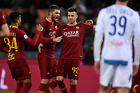 Stephan El Shaarawy of AS Roma (R) celebrates with team mates after scoring the goal of 1-0 <br /> Roma 11-3-2019 Stadio Olimpico Football Serie A 2018/2019 AS Roma - Empoli<br /> Foto Andrea Staccioli / Insidefoto